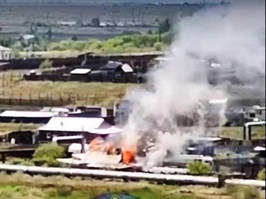 Дом сгорел в читинском поселке Нахаловке