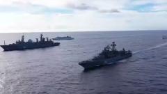 ВМФ России начал масштабные учения в Тихом океане: кадры маневров