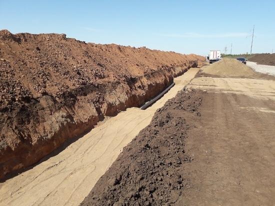 В Оренбургском районе началось строительство канализационного коллектора