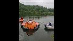 Тренировочное спасение космонавтов из озера сняли в Ногинске