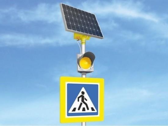 В Чебоксарах «солнечный» светофор появился еще у одной школы