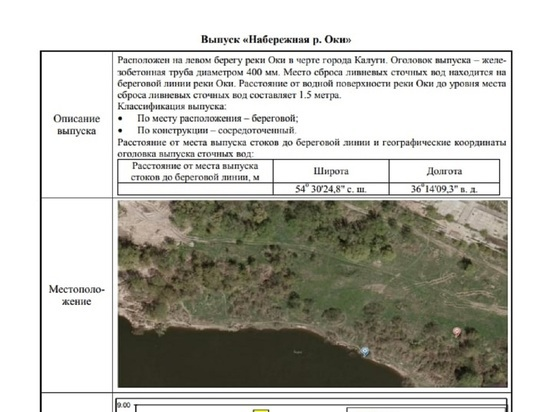 Денисов показал калужанам документ по решению проблемы с потопами
