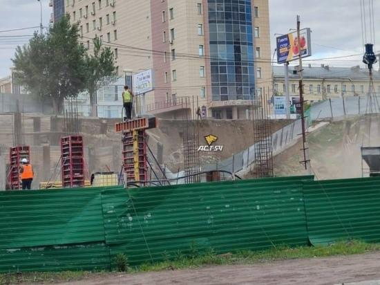 В Новосибирске снова обрушился грунт на Большевистской