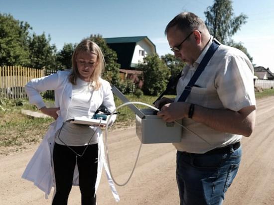 На территории свалки в Лубягино в Кировской области мониторят качество воздуха