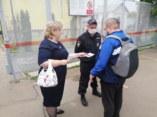 На железнодорожной станции Серпухова прошел рейд