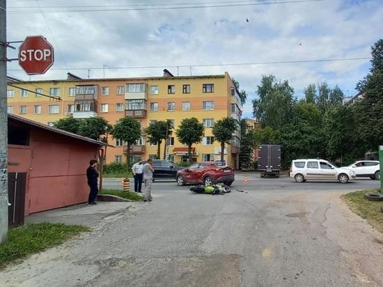 В Йошкар-Оле мотоциклист пострадал при столкновении с иномаркой