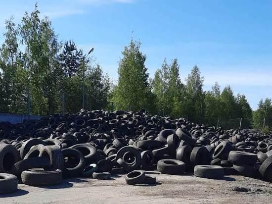 Старые автомобильные шины из Петрозаводска увезут в Москву