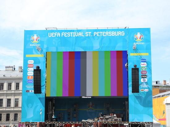 На Конюшенной и у «Юбилейного» открылись фан-зоны Евро-2020