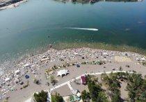 В Красноярском крае открыли второй в этом году пляж