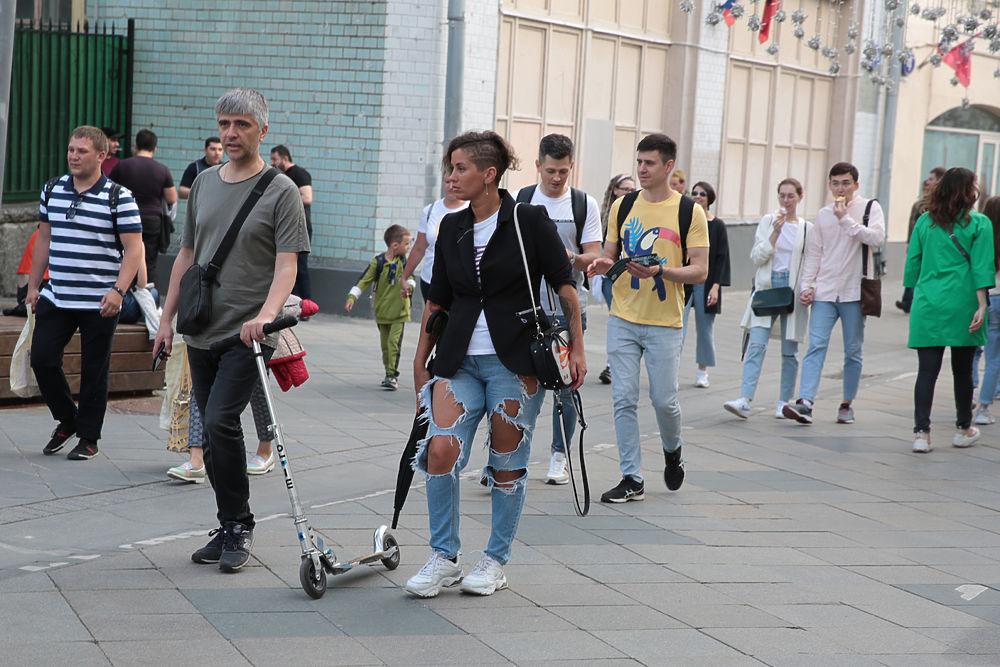 День России в центре Москвы: моды и лица