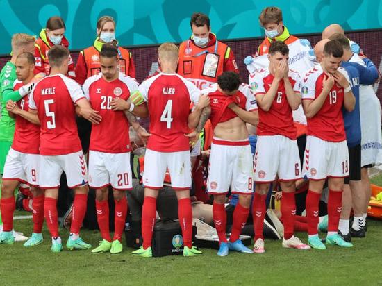 Датский футболист Эриксен потерял сознание во время матча Евро