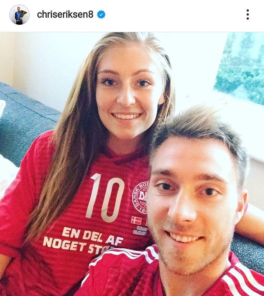 Кристиан Эриксен и его девушка Сабрина: история любви в 16 фото