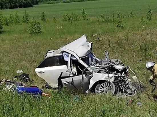 В Курганской области водитель из Омска ехал на «Тойоте» и погиб в аварии на встречной