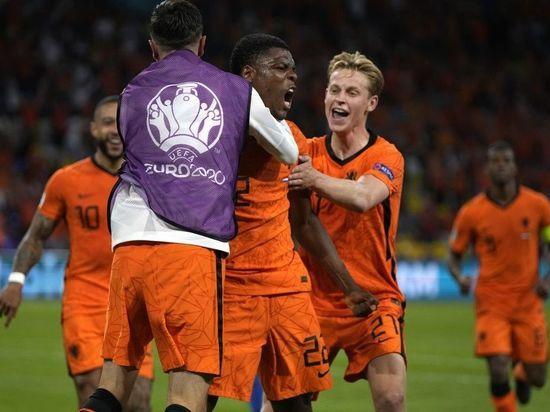 Сборная Нидерландов по футболу со счетом 3:2 победила Украину на Евро-2020