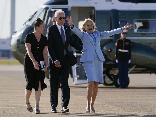 """Президент США Джо Байден во время саммита """"большой семерки"""" в Великобритании в очередной раз оговорился и перепутал названия стран"""