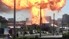 В Новосибирске взорвалась газовая АЗС