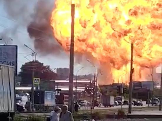 В Новосибирске локализовали пожар на газовой АЗС