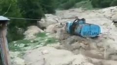 Ливневые дожди превратили дороги горного Дагестана в бурные реки