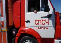 В Калужской области человек пострадал во время пожара газового баллона