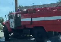 В Челябинске пожарный автомобиль, ехавший на вызов, попал в ДТП