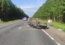 В Костромской области водитель из Твери перевернул свою иномарку вместе с семьей