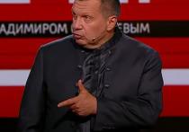 Телеведущий Владимир Соловьев в эфире «Соловьев Live» прокомментировал скандал с участием Ольги Бузовой и спортивного комментатора Дмитрия Губерниева