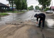 Полицейские  выявили недостатки на дороге по улице Рабочая в Кызыле