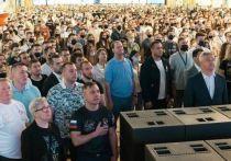 Боксёры-чемпионы поучаствовали во флешмобе в преддверии встречи глав России и Америки