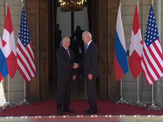 Президент России Владимир Путин встретился с американским коллегой Джо Байденом в Женеве, где пройдет саммит глав государств