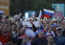 Фан-зона на Конюшенной площади переполнилась до начала матча с Финляндией
