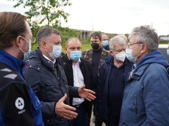 Губернатор Игорь Кобзев и президент РАН Александр Сергеев оценили работы по ликвидации экологического вреда на Усольехимпроме