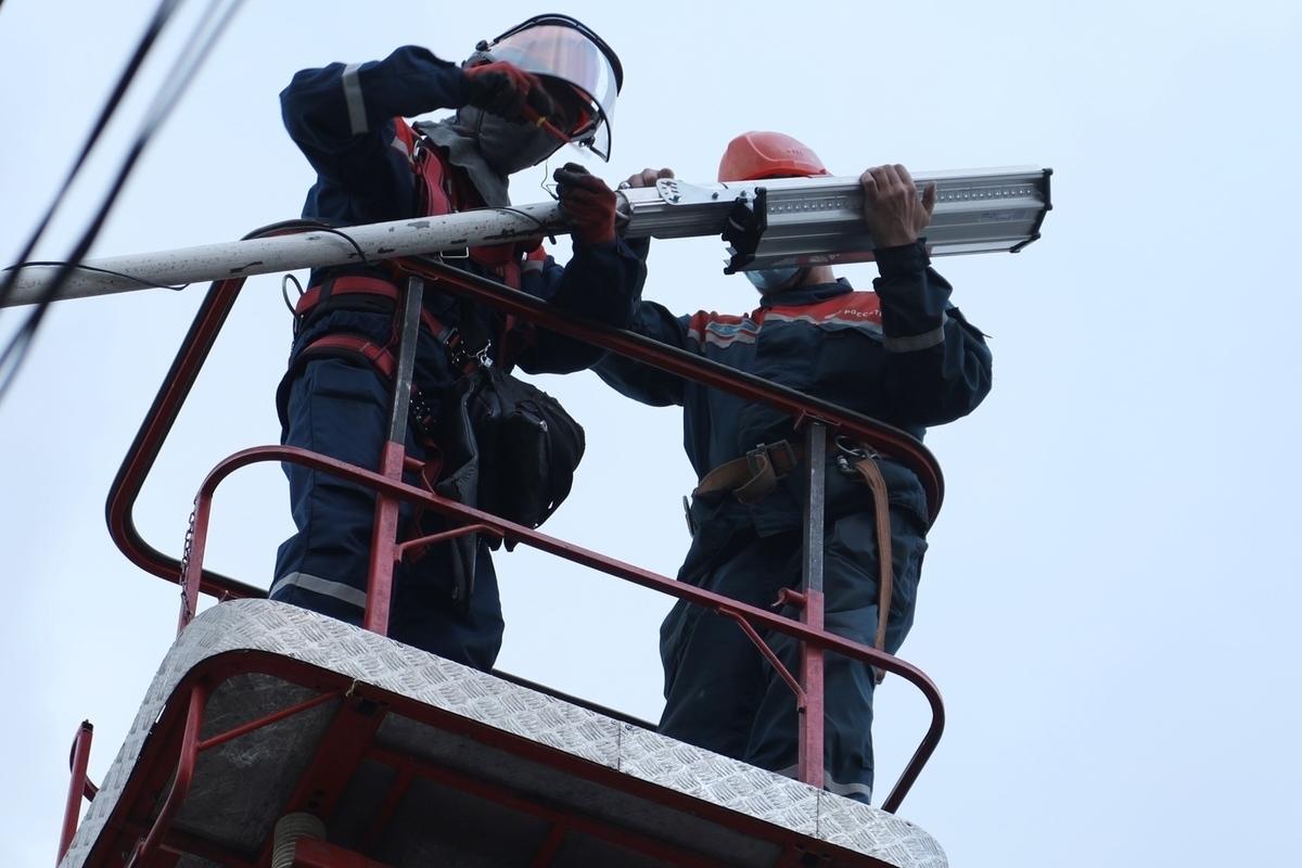 Филиал Костромаэнерго увеличил протяженность сетей наружного освещения в городе Галич