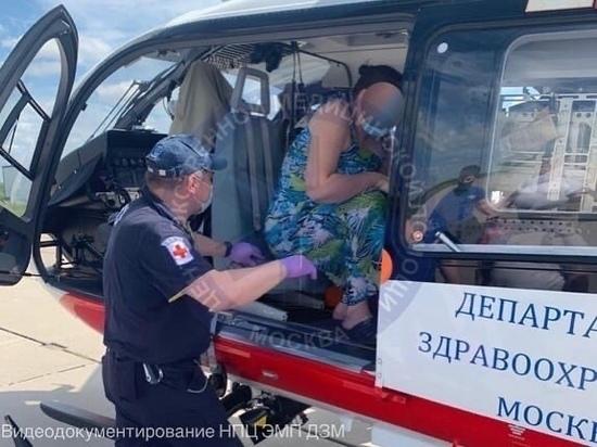 Больного грудного ребенка из Тулы экстренно санавиацией доставили в московскую больницу