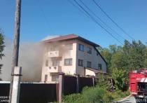 В Южно-Сахалинске вспыхнул частный дом