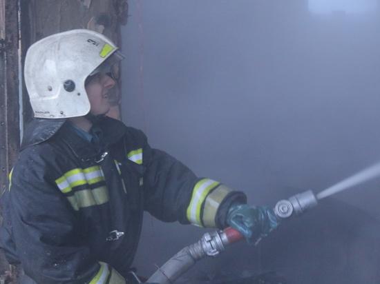 В Смоленской области пожарные тушили сарай