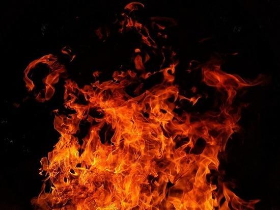 Частный дом загорелся в Рубцовске от удара молнии