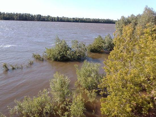 Уровень Иртыша в черте Омска сильно упал