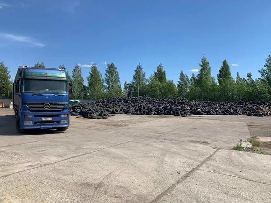 Первую партию отработанных шин увезли из Петрозаводска