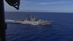 Боевые корабли ВМФ провели учения в центральной части Тихого океана