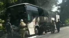 Около Сочи столкнулись два туристических автобуса с детьми: кадры ДТП