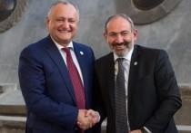 Додон поздравил Пашиняна с победой на парламентских выборах в Армении