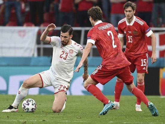 Датчане забили первый гол России на Евро-2020