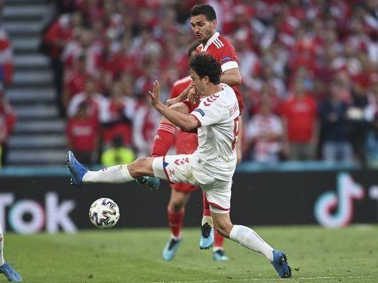 Сборная Дании забила второй мяч в ворота России