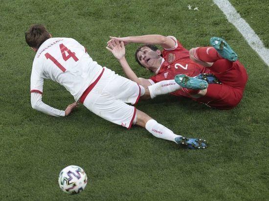 Дзюба забил пенальти в матче Россия - Дания: 1:2