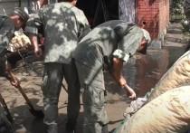 Мобильный отряд армейского корпуса Черноморского флота 22 июня продолжит оказывать помощь крымчанам, пострадавшим от сильных ливней