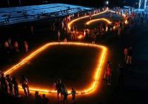 В Железноводске зажгли 80-ти метровую городскую Свечу памяти