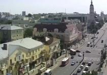 Появилось видео жесткого столкновения мотоциклиста с машиной в центре Калуги