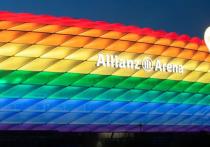 Союз европейских футбольных ассоциаций (УЕФА) запретил радужную подсветку стадиона в Мюнхене на матч сборных Германии и Венгрии из-за политического контекста