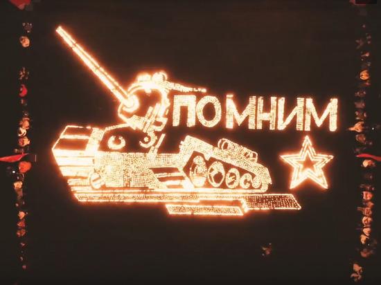 В Новокузнецке выложили из свечей танк Т-34