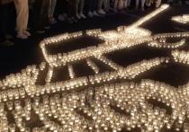 В Чите из более пяти тысяч зажженных свечей создали изображение танка Т-34 в честь Дня памяти и скорби – годовщина начала Великой Отечественной войны